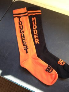 The first pair of Worlds Toughest Mudder socks ever created.